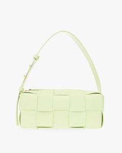 Black Leather Pegaso Shoulder Bag