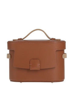 pink clutches in nappa calfskin with adjustable and removable strap.