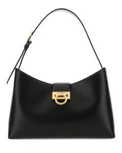 Black leather Trifolio shoulder bag