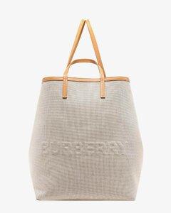 Canvasand leather handbag