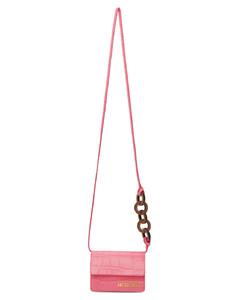 粉色Le Petit Riviera鳄鱼纹单肩包