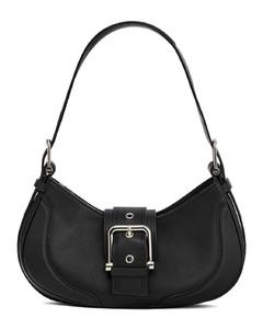 Polo Pochette Small Woven Leather Shoulder Bag