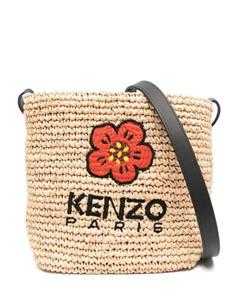 Fluffy faux-fur cross-body bag