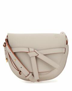 Cappuccino leather small Gate crossbody bag Beige o Tan Loewe Donna
