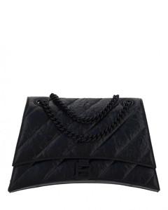 Leather Diag shoulder bag
