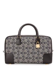 Leather And Canvas Amazona 28 Top-Handle Bag
