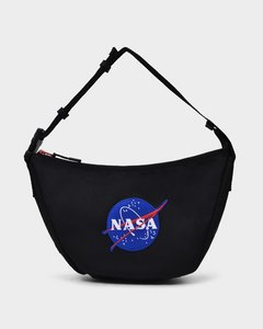 Space Sling Bag in Black Recycled Nylon