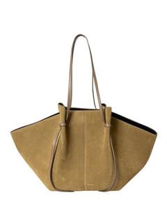 TB shoulder bag in black leath...