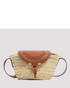 Raffia And Leather Tote Bag