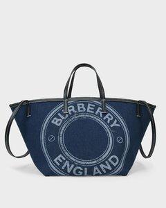 Mini Beach Tote Bag in Dark Blue Cotton