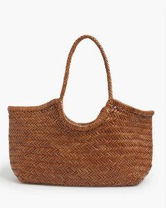 Nantucket large leather basket bag