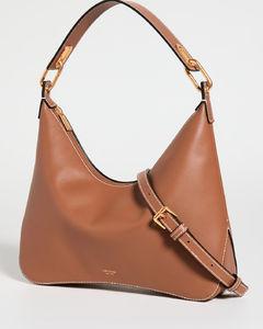 Ruched Cylinder leather bag