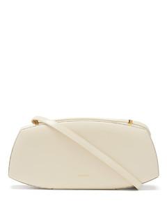 Logo-print leather shoulder bag