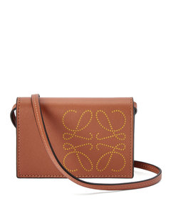 Leather Anagram Neck Card Holder