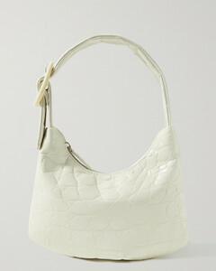 Lisa Small Croc-effect Leather Shoulder Bag
