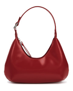 Baby Amber red leather top handle bag