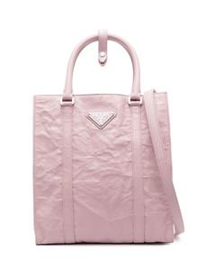 Fran black leather top handle bag