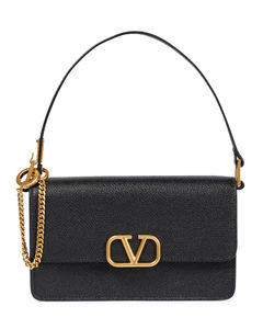 Becky almond leather wallet-on-chain