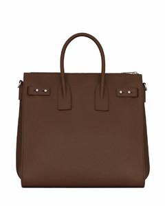 Hana medium leather and suede bag