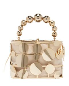 Holli Paris disc-embellished cage handbag