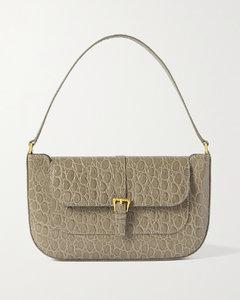 Miranda Croc-effect Leather Shoulder Bag
