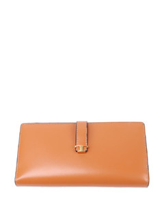Large bicolor bifold wallet