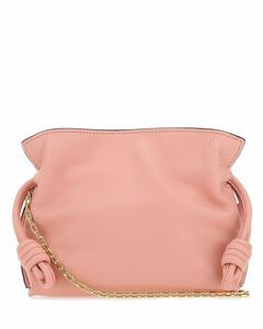 Pink nappa leather nano Flamenco clutch Pink Loewe Donna