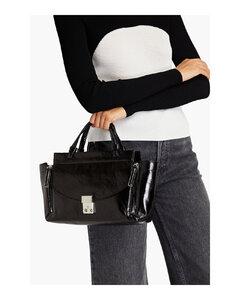 Trunk medium tweed and leather shoulder bag