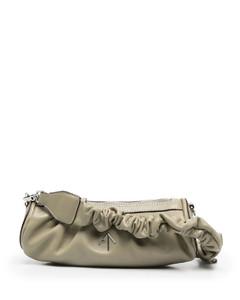 Cylinder mini leather shoulder bag