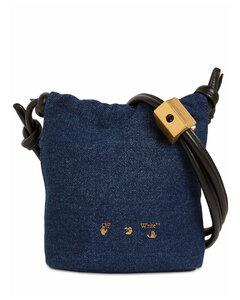 Slider Crossbody 12 Denim Bucket Bag