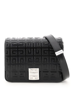 4G MEDIUM BAG WITH ALL OVER EMBOSSED LOGO