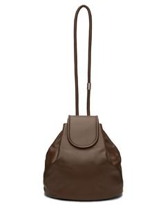 棕色折叠盖水桶包