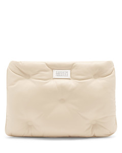 Glam Slam quilted leather pouch