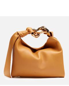 Women's Small Chain Hobo Bag - Mustard