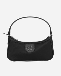 Carol baguette leather and nylon bag