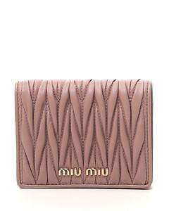 Crocodile-effect bi-fold wallet