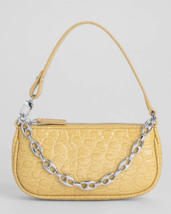 Women's Mini Rachel Croco Shoulder Bag - Flax