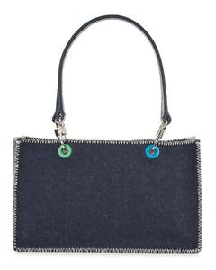 Gemma dark blue denim shoulder bag