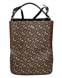 Brown Small Monogram E-canvas Peggy Bucket Bag