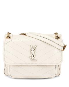 Medium Niki Chain Bag in Cream