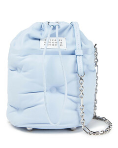 Woman Glam Slam Quilted Leather Bucket Bag