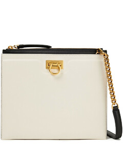 Woman Trifolio Two-tone Leather Shoulder Bag