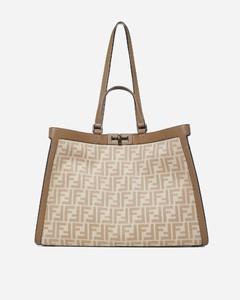 Peekaboo X-Tote FF wool and leather bag