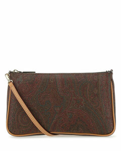 Embroidered fabric small shoulder bag