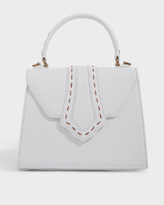 Fey Structured Leather Tote