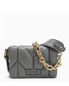 Grey cross-body quilted bag