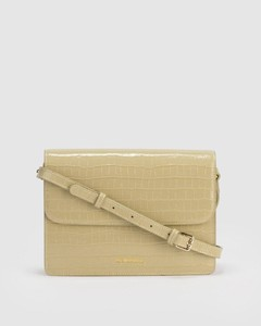 AVERY CROC MESSENGER BAG Pistachio