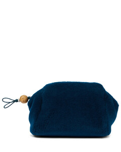 Puffy Pouch羊绒与真丝手拿包