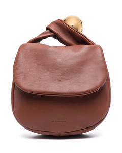 Sphere leather pouch bag