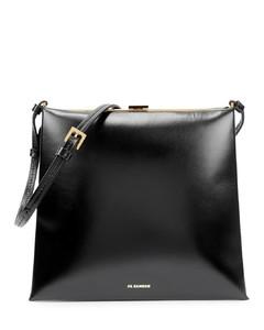 Trace small black leather shoulder bag